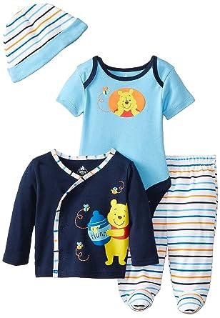 f6b97b8d9018 Amazon.com  Disney Baby Boys  Winnie The Pooh 4 Piece Set