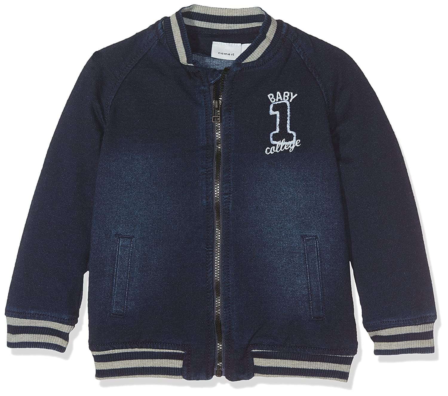 Name It Baby Boys' Nitbilas Ls DNM Cardigan Nb Sweatshirt 13143460