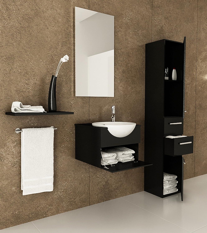 Nepal 60 inch Double Sink Wall Mounted Bathroom Vanity ...