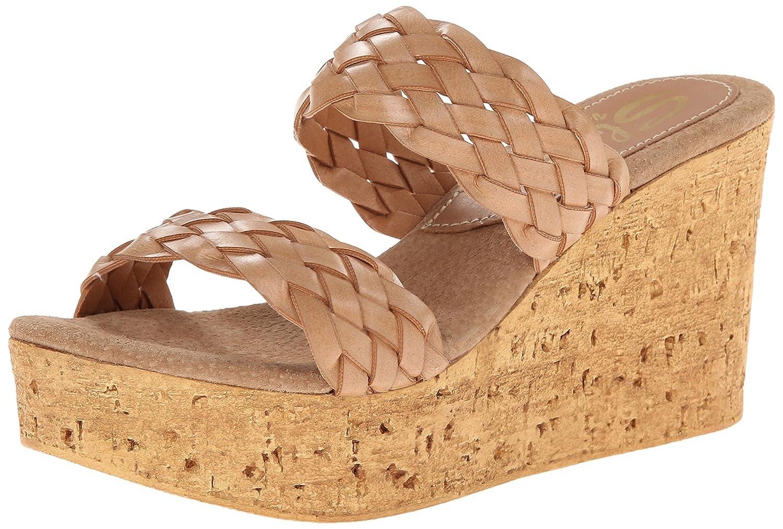 Sbicca Women's Manaus Wedge Sandal B00O1CNZPU 9 B(M) US|Tan