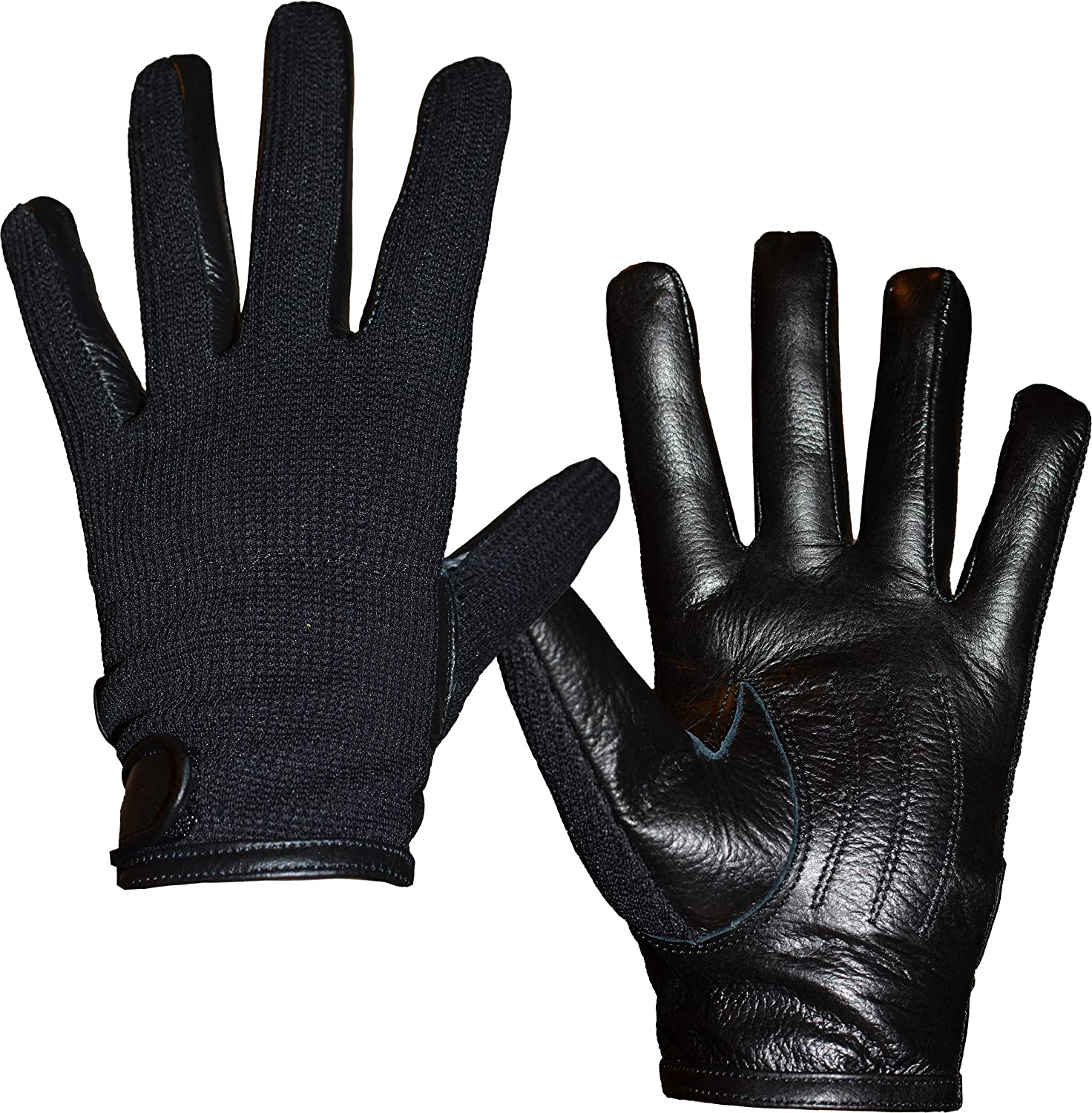 Mens leather gloves at debenhams - Unisex Mens Womens Semi Leather Gloves Stretch Fit Xs S M Amazon Co Uk Clothing