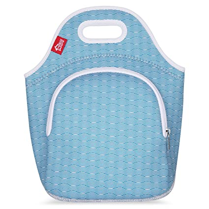 25c88f185560 Neoprene Lunch Tote Bags with Pockets, Yookeehome Thick Insulated Thermal  Cooler Blue Lunch Bags Waterproof Outdoor Travel Picnic Lunch Handbags Tote  ...