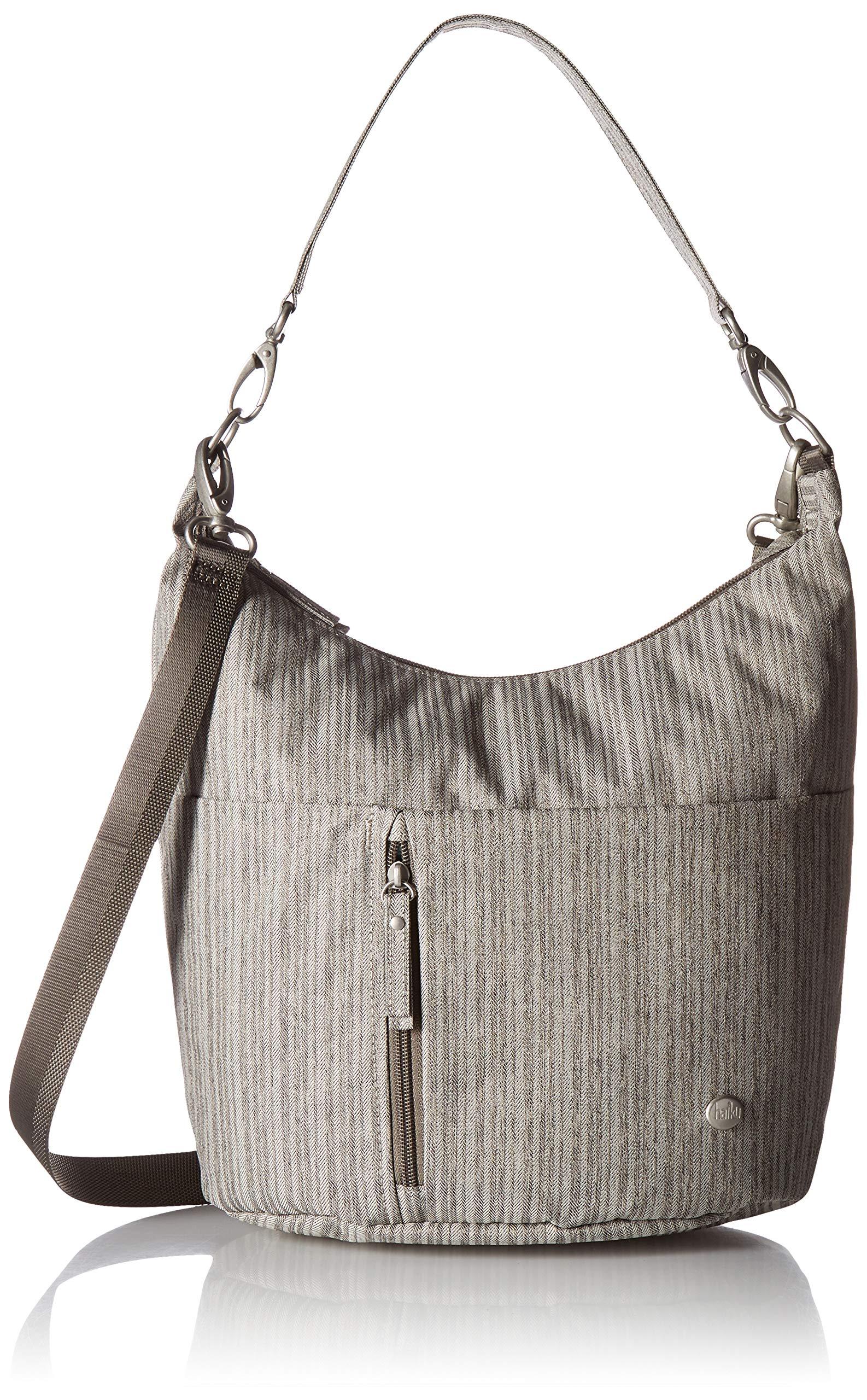 HAIKU Women's Ascend Hobo Shoulder Bag, 10'' x 10.75'' x 7.5'', Grey