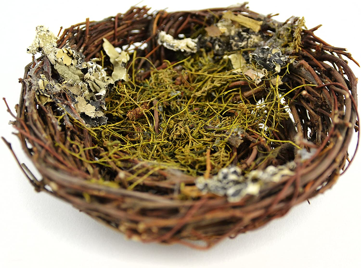 Touch of Nature 1-Piece Artificial Bird Nest with Moss for Arts and Crafts, 5-Inch, Brown
