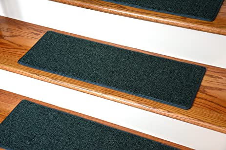 Dean Carpet Stair Treads 23u0026quot; X 8u0026quot;   Hunter Green ...