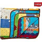 Luvlap Newborn Baby Soft Reversible Baby Blanket, Blue Whale (80cm x 100cm)