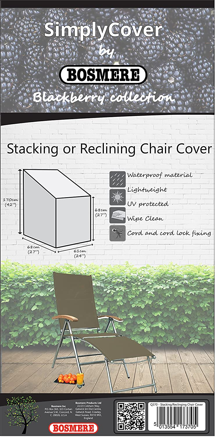 Bosmere R370 Simply Cover Barley (Beige) Stacking/Reclining Chair Cover BOSMERE PRODUCTS LIMITED