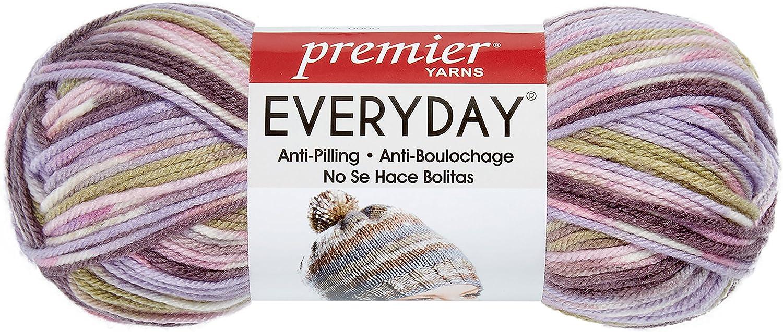 Premier Yarns Anti-Pilling Everyday Worsted Mutli Yarn-Lilac Ridge, 3 Pack