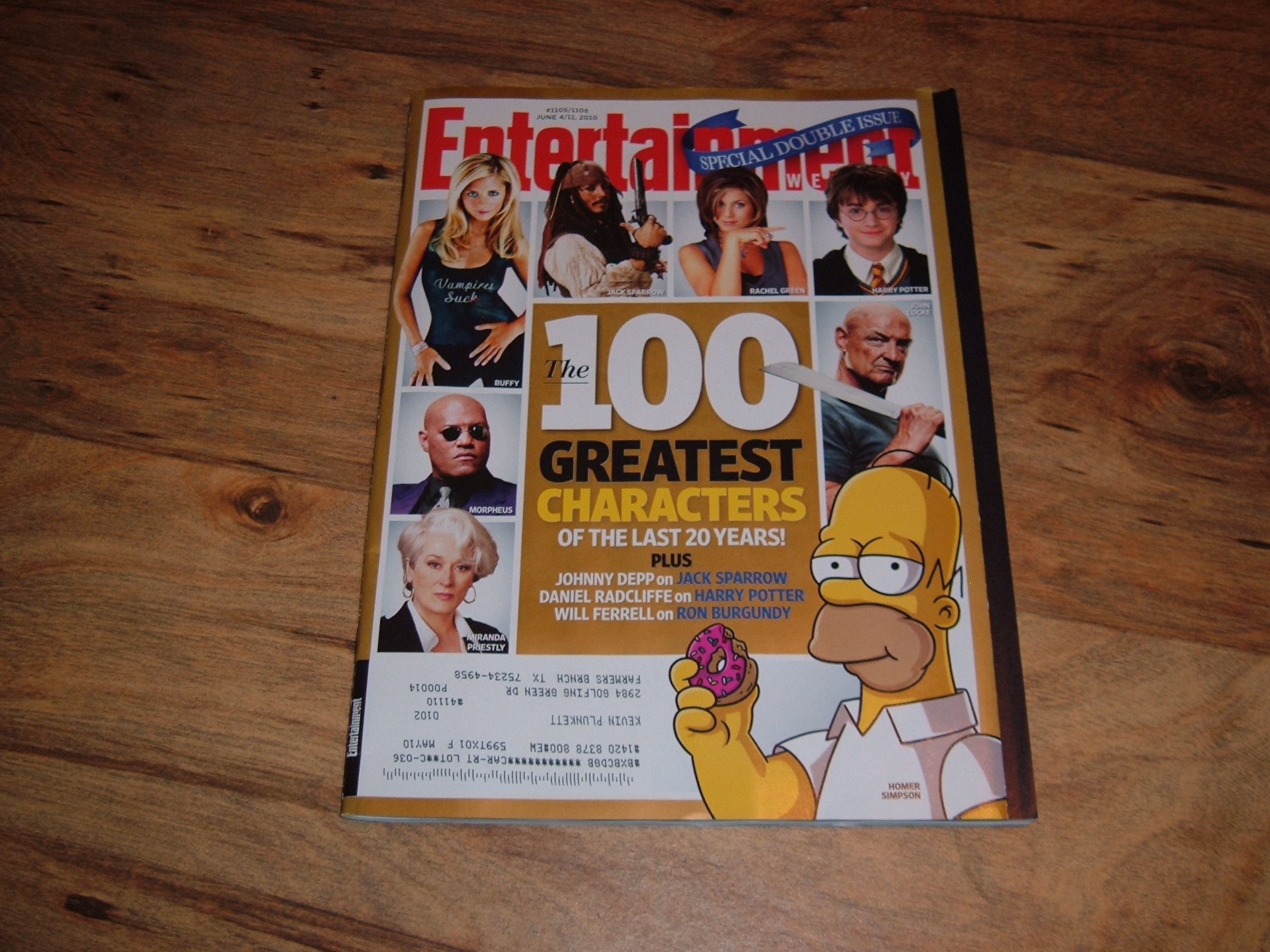 Read Online Entertainment Weekly, June 4/11, 2010-The 100 Greatest Characters of the Last 20 Years. Special Double Issue. PDF