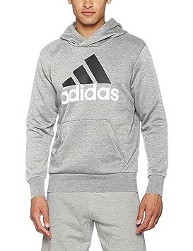 adidas ESS LIN P/O FT Sudadera con capucha, Hombre, Gris, XS: Amazon.es: Deportes y aire libre