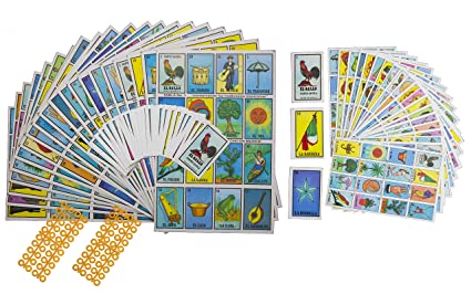 Naipes Gacela 2 Loteria Mexicana Sets (Different Sizes), 1 Jumbo Set (20