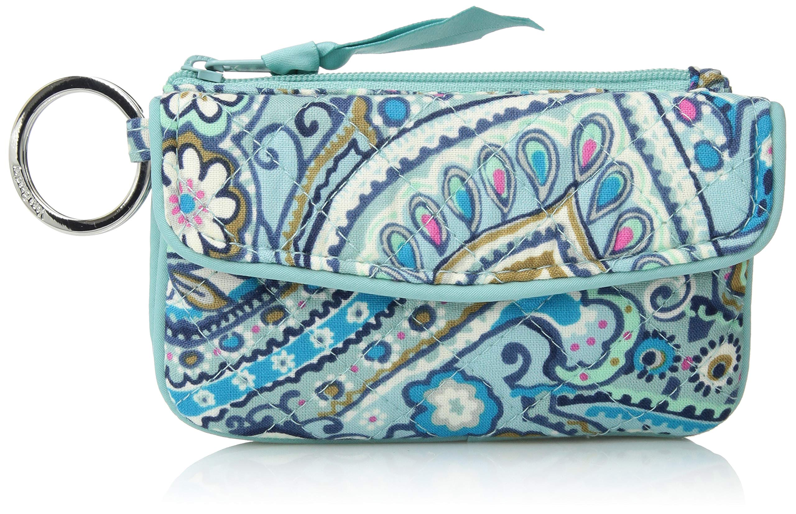 Vera Bradley Iconic Jen Zip ID, Signature Cotton, Daisy Dot Paisley