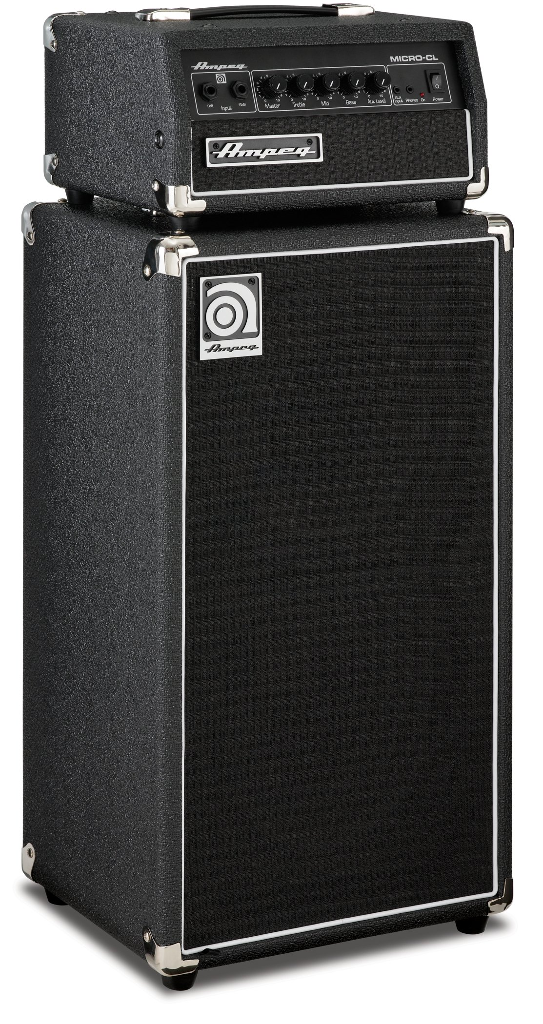 Ampeg MICRO-CL Micro-CL Bass Amp Stack - 100-Watt Head with 2 x 10 Cabinet by Ampeg