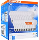Sylvania Home Lighting 74766 60W Equivalent, LED Bulb, A19 Lamp, Efficient 8.5W, Bright White 5000K, 24 Pack, Piece