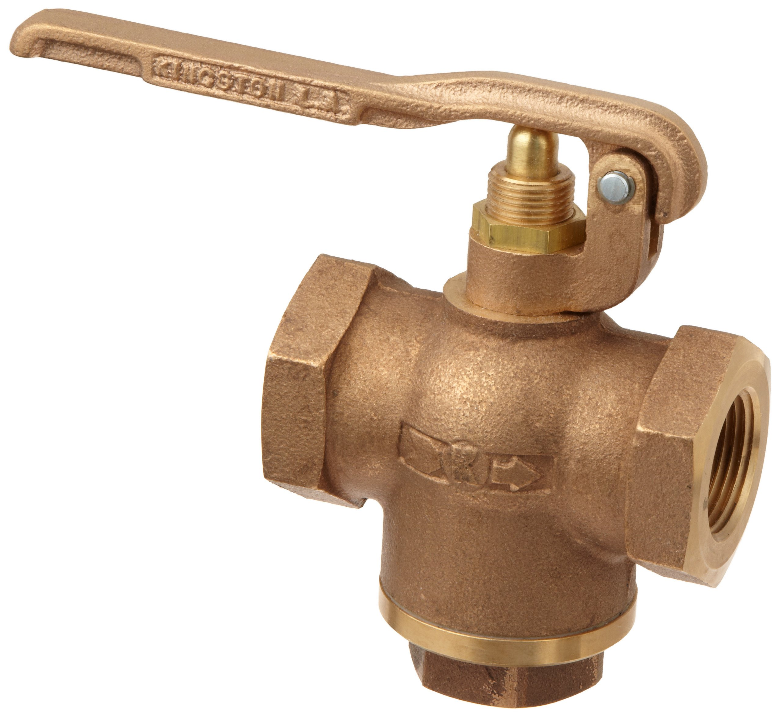 Kingston 305B Series Brass Quick Opening Flow Control Valve, Squeeze Lever, 1'' NPT Female