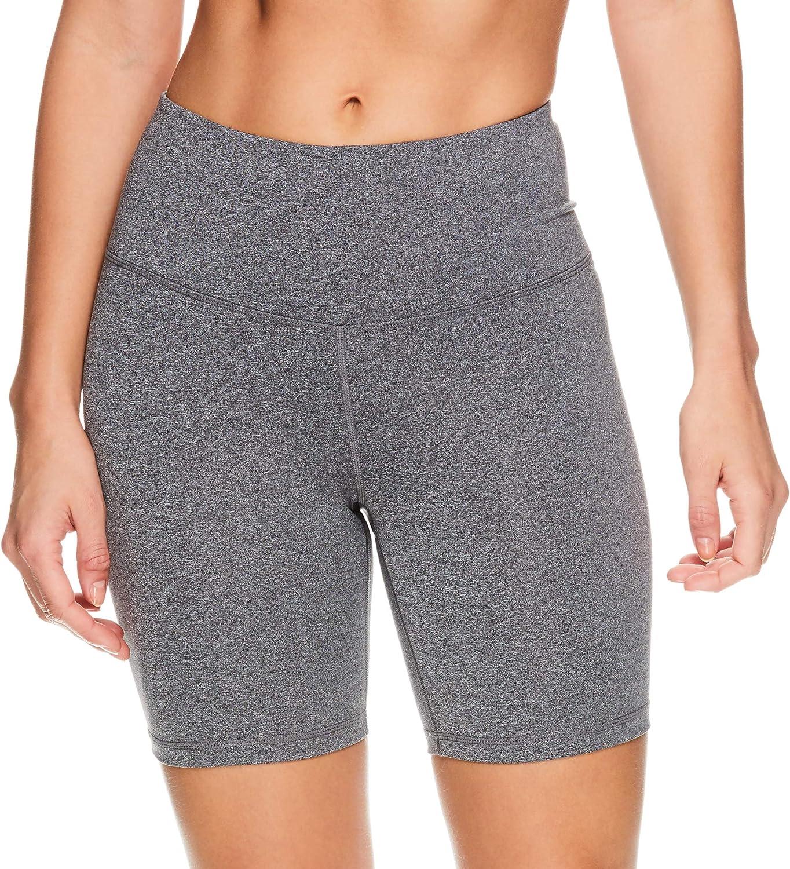 Reebok Womens Compression Running Shorts High Waisted Performance Gym Yoga /& Workout Bike Short 7 Inch Inseam