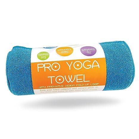 "Toalla de Yoga Limber Stretch 24x72"" – MATERIAL EXCLUSIVO Antiresbalante, Microfibra Superabsorvente Suavizada con"