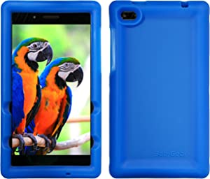 BobjGear Bobj Rugged Tablet Case for Lenovo Tab 7 (TB-7504F, TB-7504X) (2018) - BobjBounces Kid Friendly (Batfish Blue)