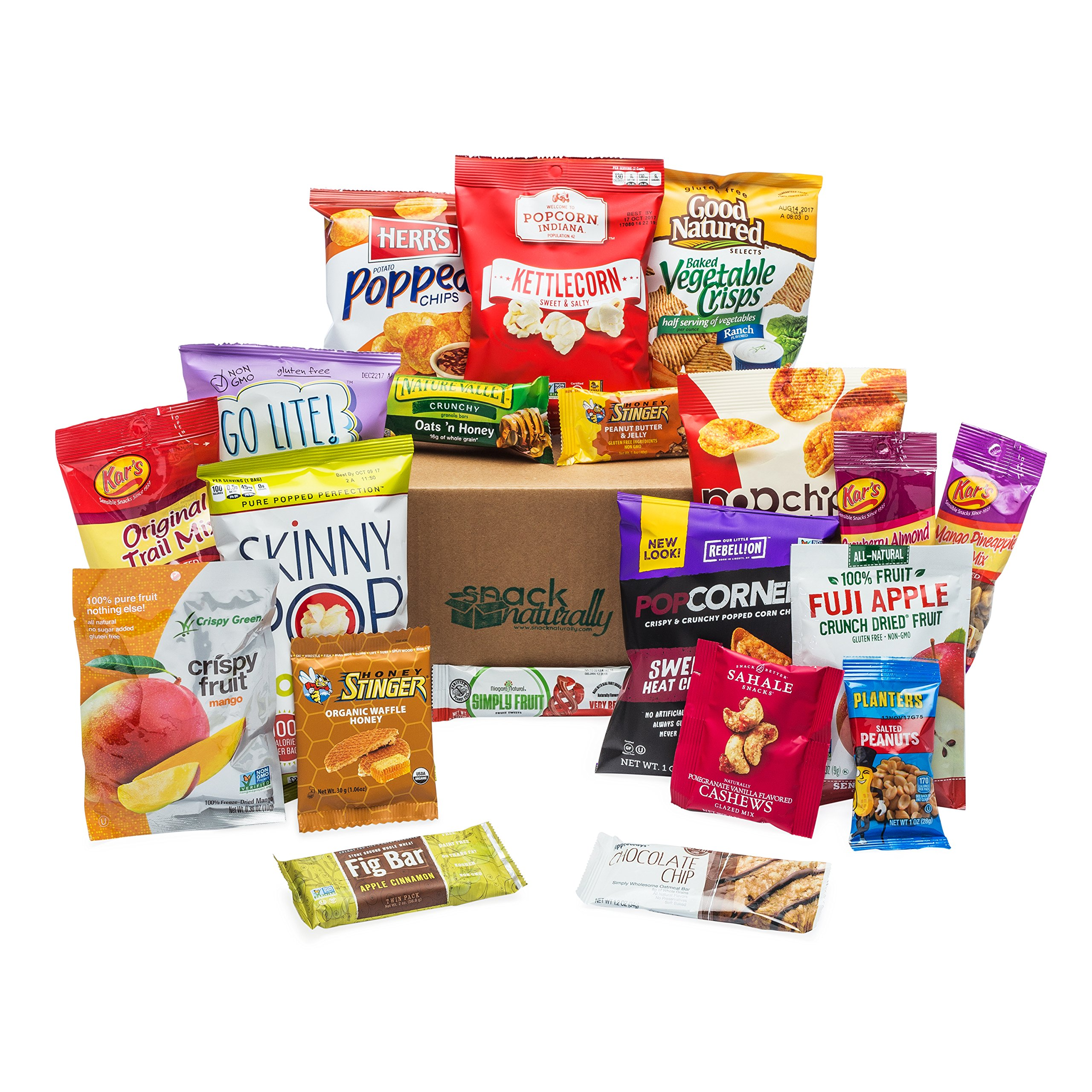 Dried Fruit, Trail Mix, Granola Bars & More Healthy Variety Snacks (20) by Snack Naturally
