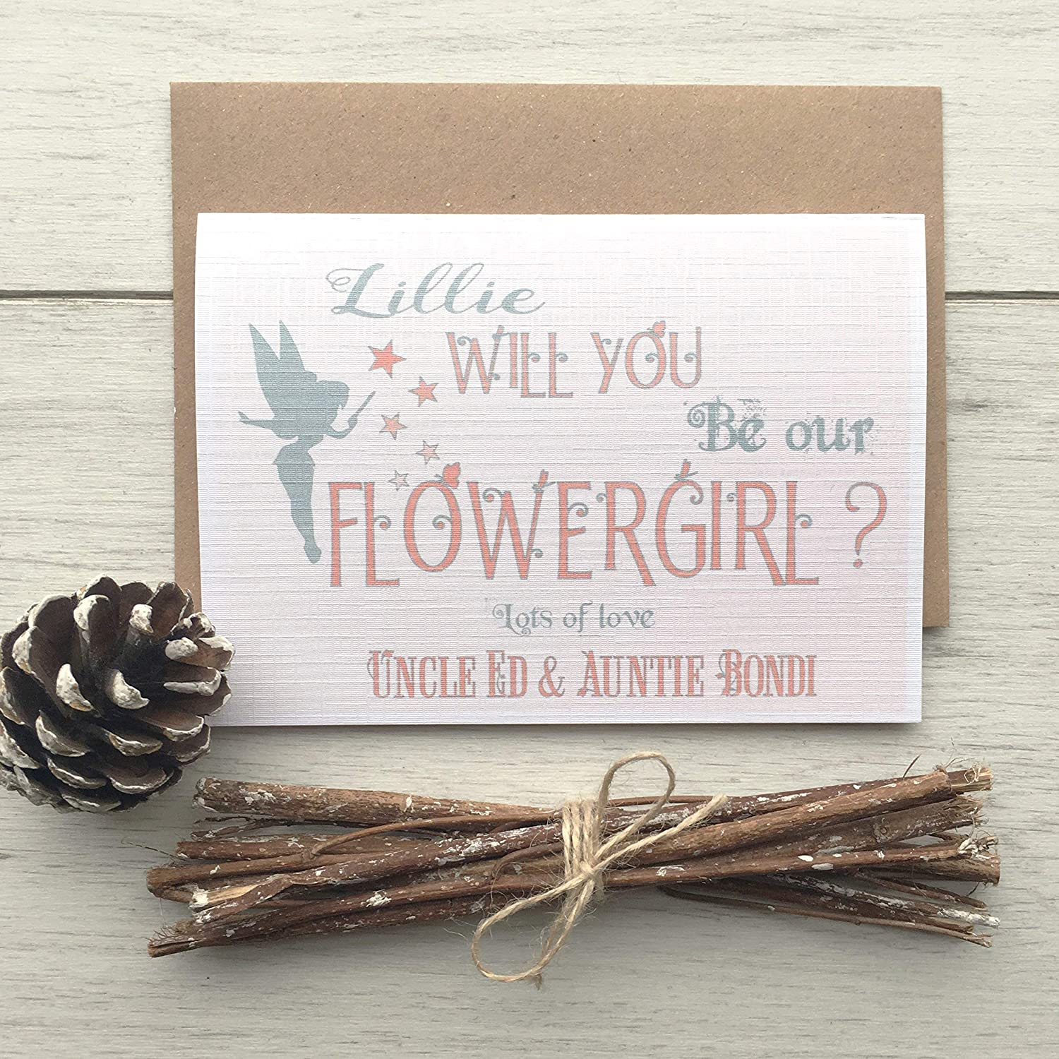 Will You Be My FlowerGirl Personalised Card