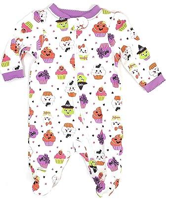 amazoncom assorted policeman pumpkin cat ghost skeleton baby boys girls halloween footed sleeper clothing