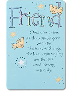 Amazon happy birthday to more than a friend greeting card american greetings bird and stars birthday card for friend m4hsunfo