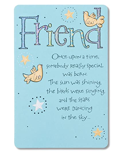 Amazon American Greetings Bird And Stars Birthday Greeting Card For Friend With Embossing Office Products