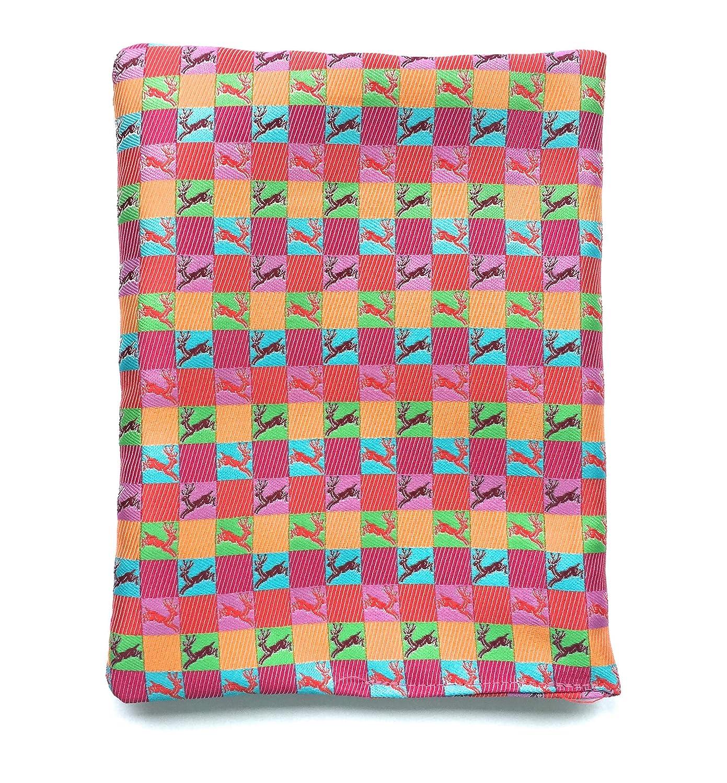 Moda Bavarica Einstecktuch Trachtentuch bunt pink Trachteneinstecktuch