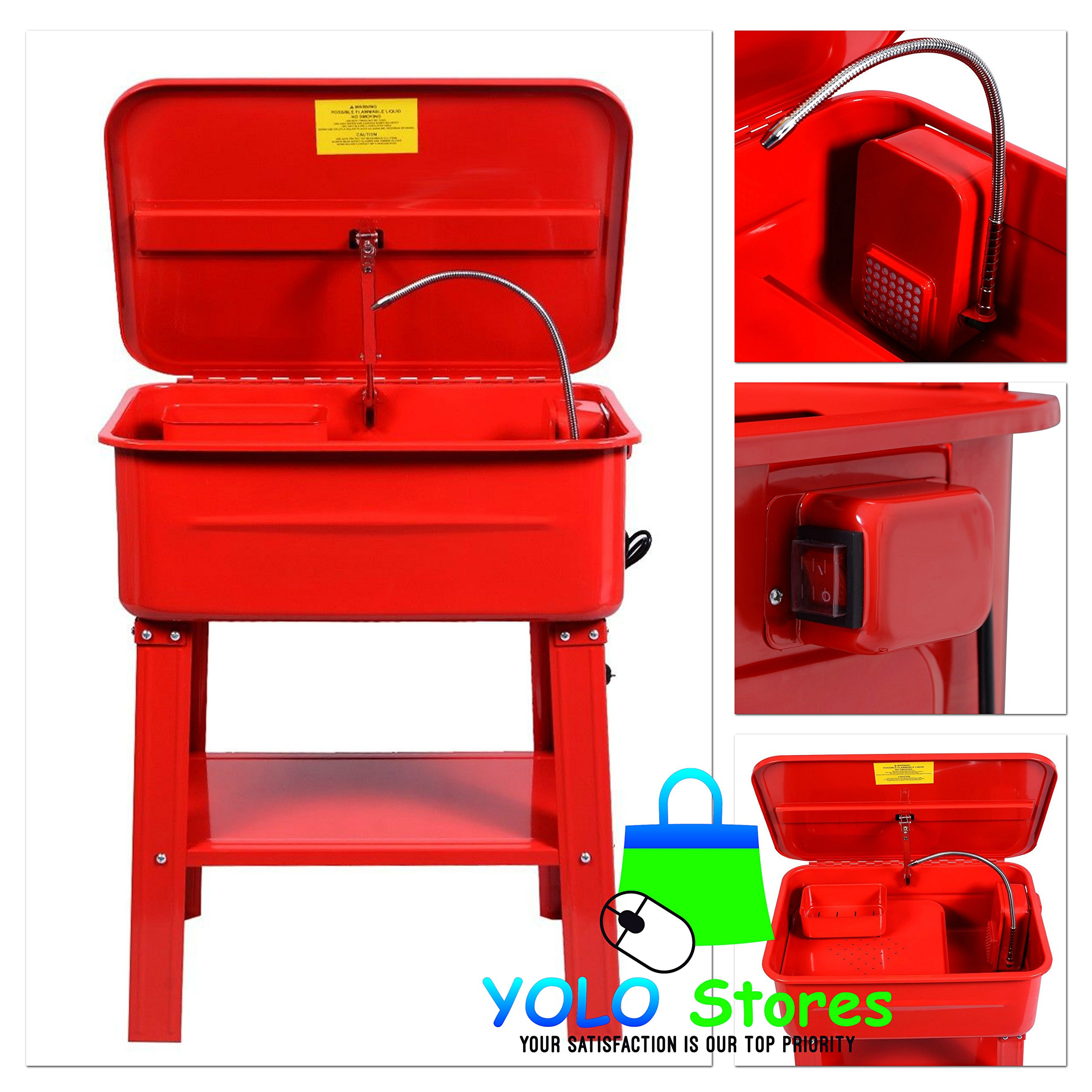 Automotive Parts Washer Cleaner Heavy Duty Electric Solvent Pump 20 Gallon Auto Tools By YOLO Stores by YOLO Stores (Image #1)