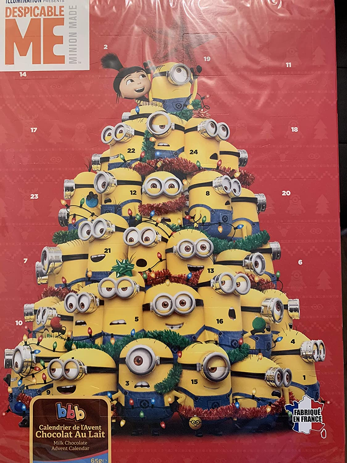 Minions Christmas Milk Chocolate Advent Calendar