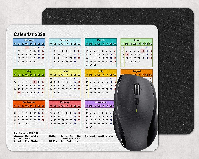 Pink Mouse mat Mouse pad 5mm Rubber Calendar 2020