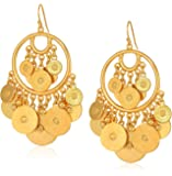 Ben-Amun Moroccan Coin 24K Gold Plated Vintage Earrings