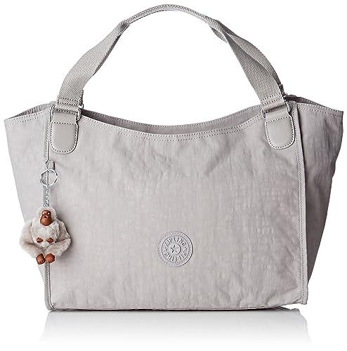 6bfcedc66 Kipling - Sarande N, Shoppers y bolsos de hombro Mujer, Grey (N Slate
