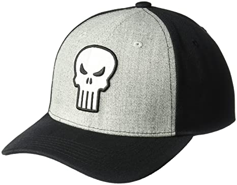 Unisex Punisher Baseball Cap, Black, One Size MARVEL