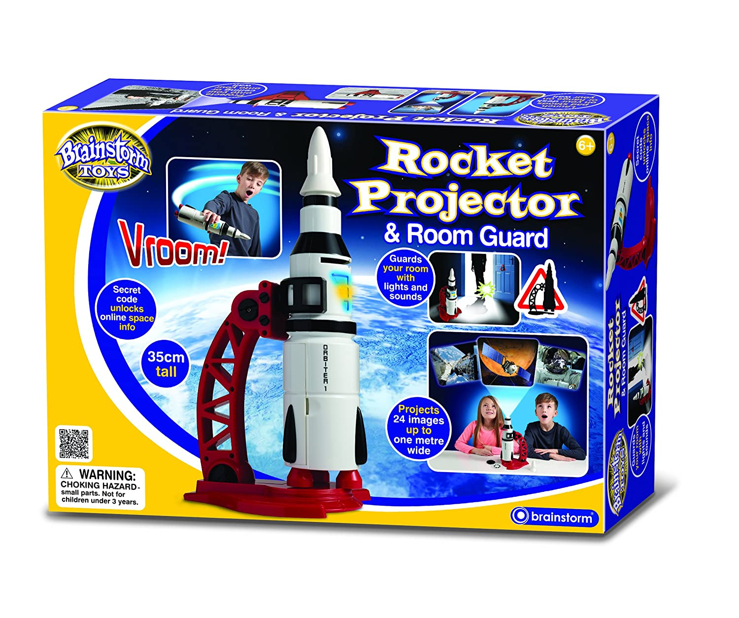 brainstorm toys rocket projector and room guard amazon co uk