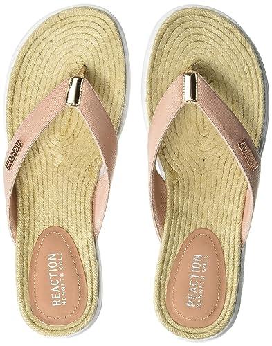 5ef1d1126931 Kenneth Cole REACTION Women The Ready Thong Sport Sandal Espadrille Sock  Flip-Flop