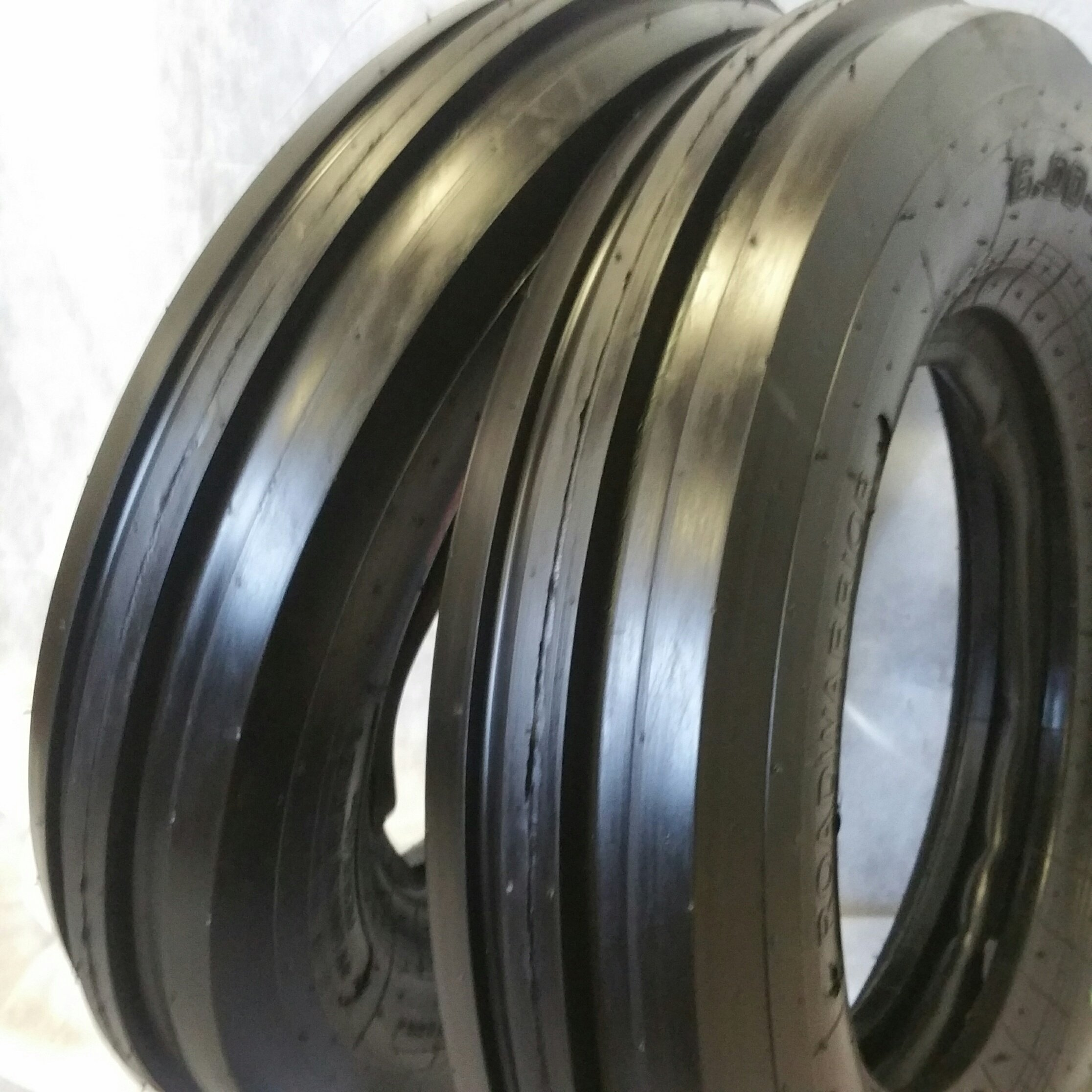 (2 TIRES + 2 TUBES) 6.00-16 8PLY ROAD WARRIOR OZKA KNK35 F2 AIA32-3-Rib Farm Tractor Tire 6.00x16 by Road Warrior