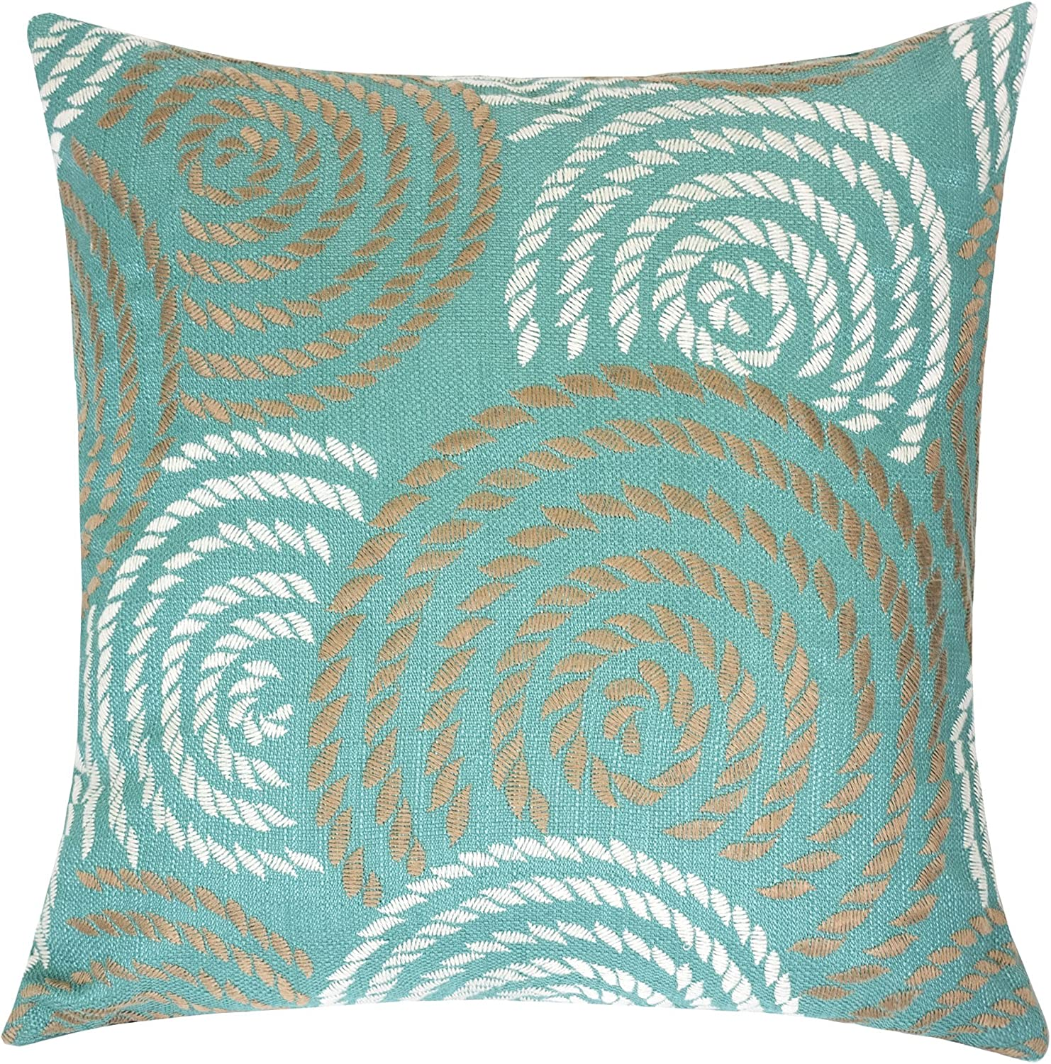 Modern Teal Decorative Throw Pillow  from images-na.ssl-images-amazon.com