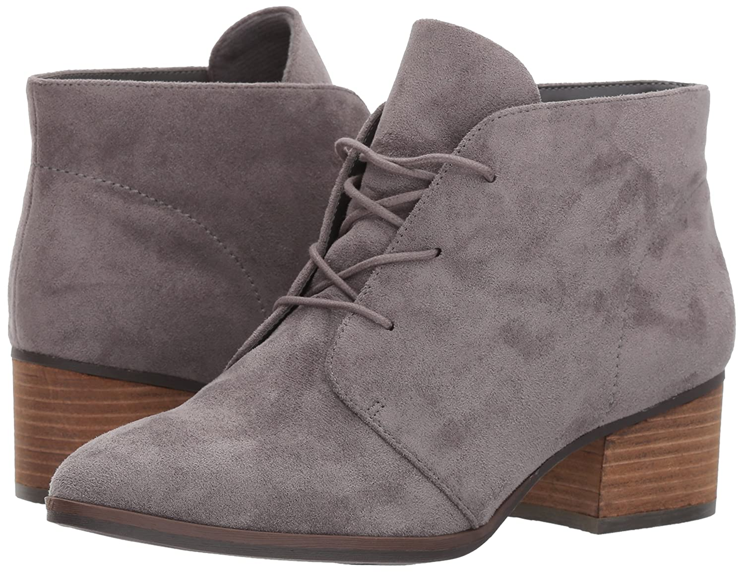 Dr. Scholl's Shoes W Women's Turning Boot B0724Z2NWJ 10 W Shoes US|Grey Microfiber 41c129