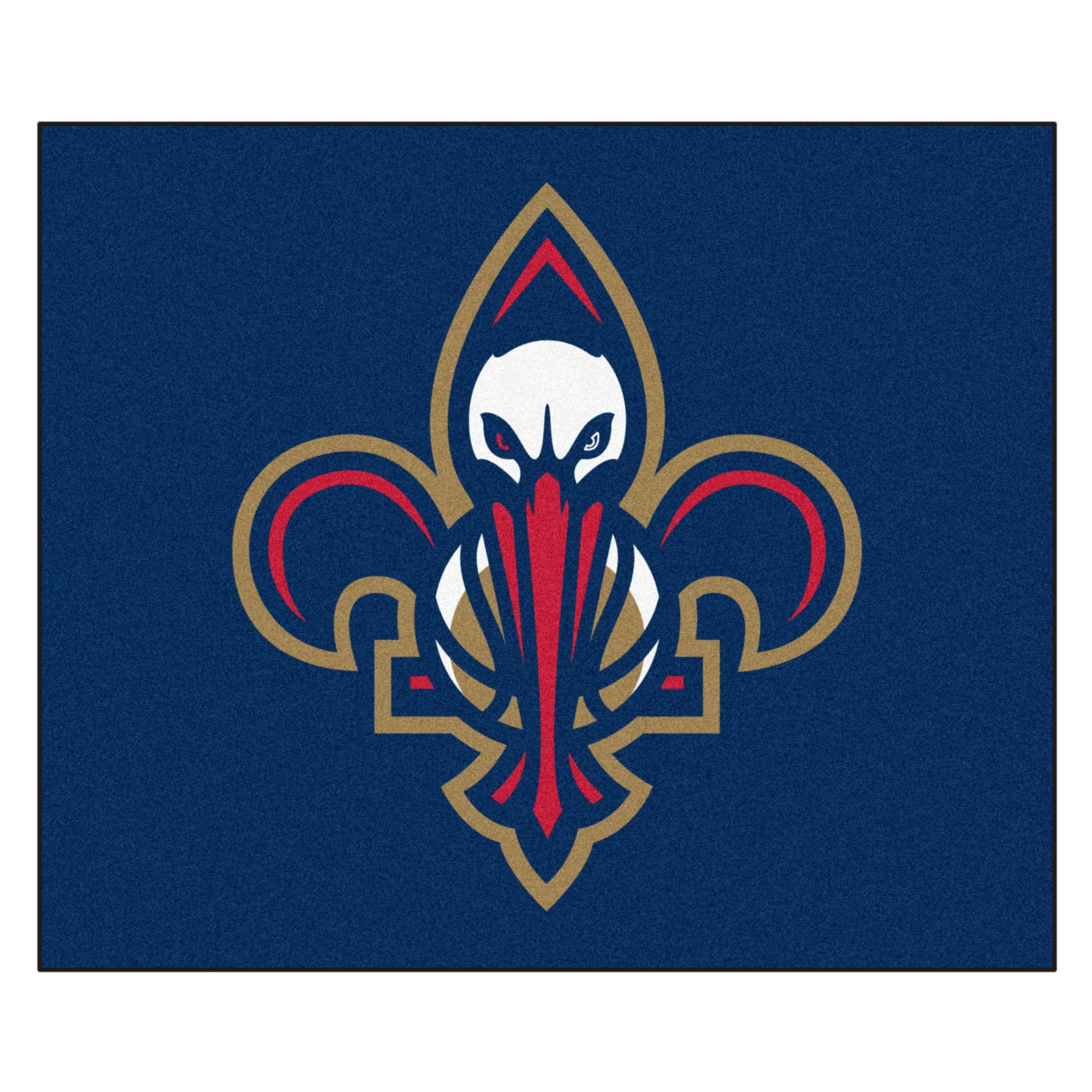 FANMATS 19460 NBA - New Orleans Pelicans Tailgater Rug , Team Color, 59.5''x71''