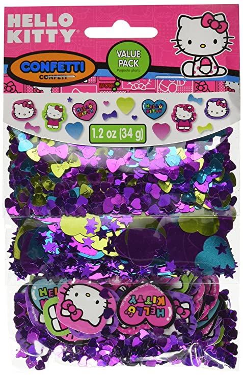 Amazon.com: Hello Kitty Arco Iris Confeti Value Pack Fiesta ...