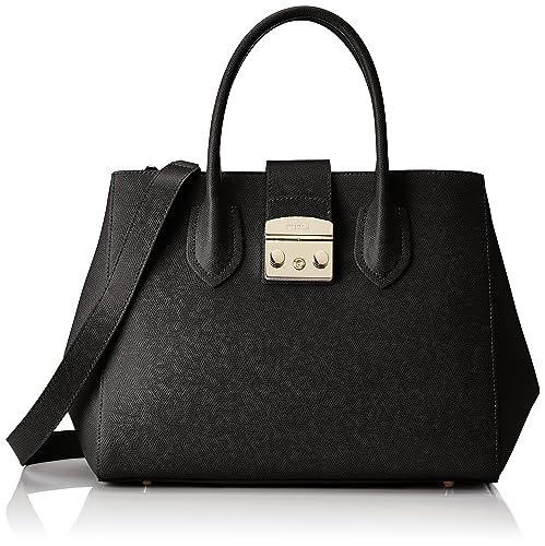 Shoulder Bag for Women On Sale, Metropolis S, Black, Leather, 2017, one size Furla