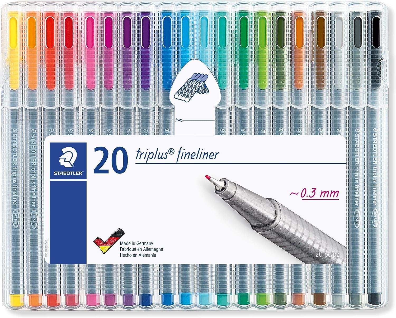20 x QUALITY BLUE FINELINER OFFICE SCHOOL PENS 0.4mm