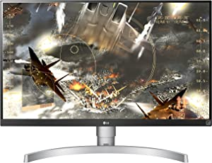 LG 27UK650-W 27 Inch 4K UHD IPS LED Monitor with HDR 10 and Adjustable Stand