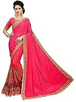 OM SAI LATEST CREATION Silk Saree (Sarees For Womens (S1035)_Rani Free Size)