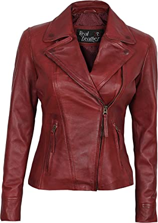 Real Lambskin Leather Jackets for Women Women Leather Jacket