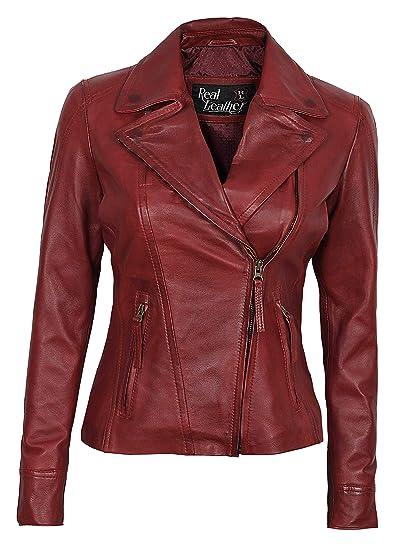 6f7ea1ea Womens Red Leather Jacket - Lambskin Leather Jackets for Women