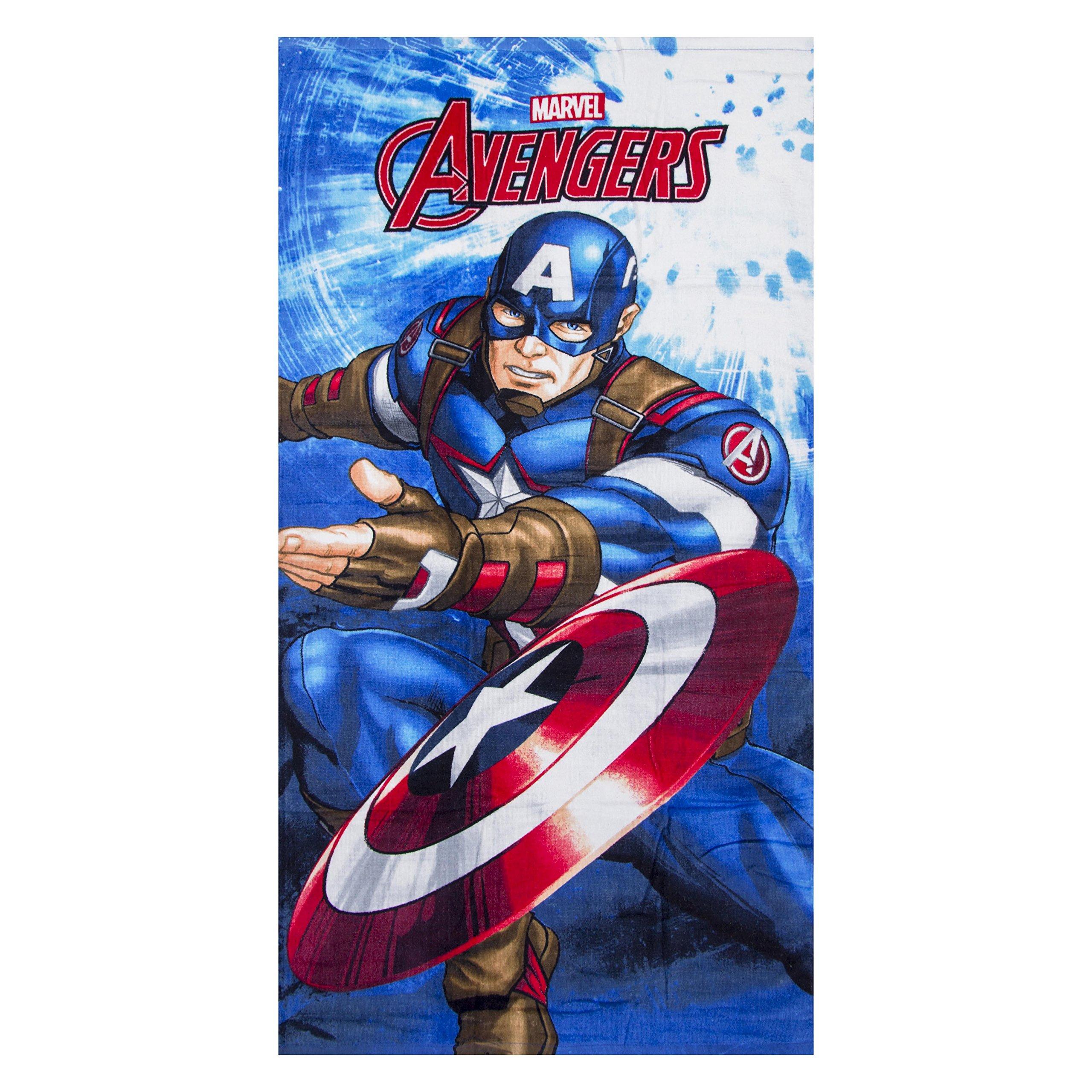 Marvel Avengers Captain America Kids Beach Towel (Blue) by Disney