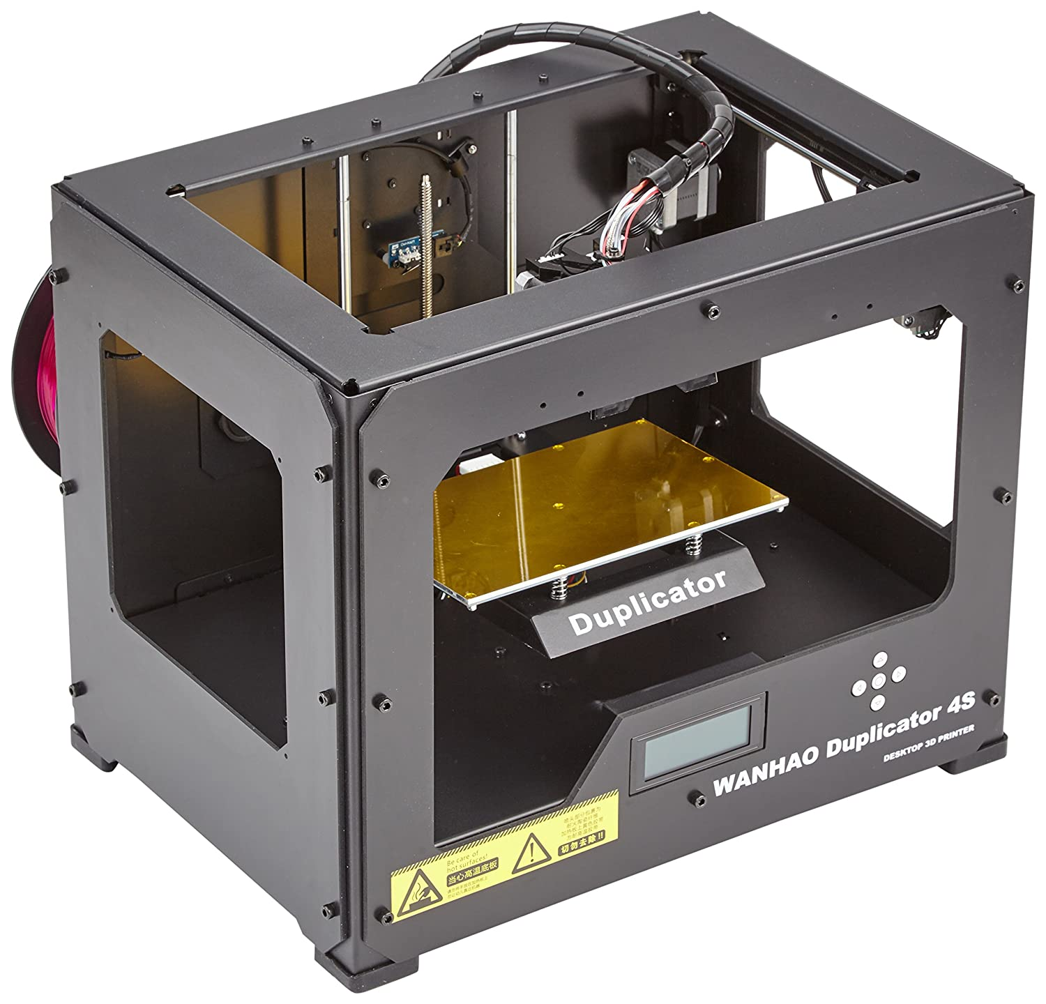 Wanhao Duplicator 4S 3D Printer in Metal Frame Black Case Dual ...