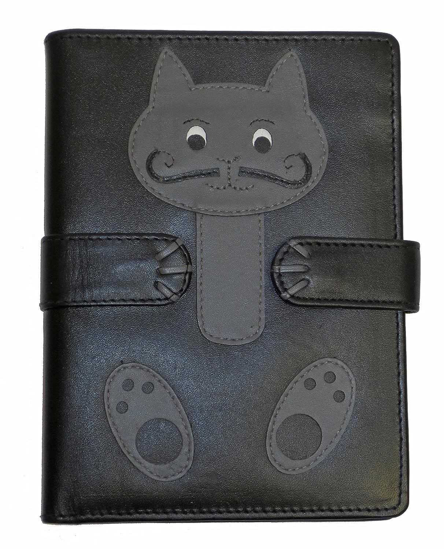 Ciccia Black Leather Passport Wallet